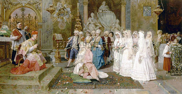 GIULIO ROSATI THE WEDDING ARTIST PAINTING REPRODUCTION HANDMADE OIL CANVAS REPRO