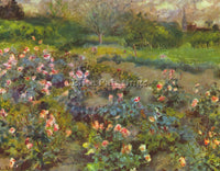 RENOIR ROSE GARDEN ARTIST PAINTING REPRODUCTION HANDMADE CANVAS REPRO WALL DECO