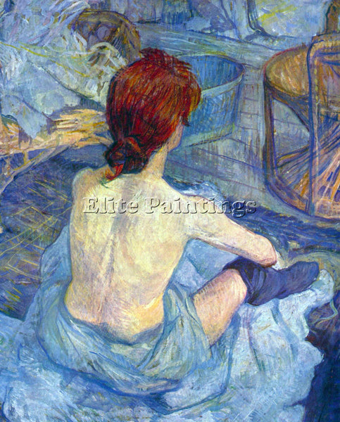 TOULOUSE-LAUTREC ROUSSE THE TOILET ARTIST PAINTING REPRODUCTION HANDMADE OIL ART