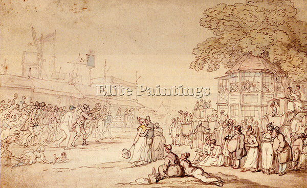THOMAS ROWLANDSON CAPTAIN BARCLAYS RALLY MATCH ARTIST PAINTING REPRODUCTION OIL