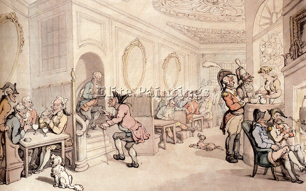THOMAS ROWLANDSON STRONG WATERS AT BATH ARTIST PAINTING REPRODUCTION HANDMADE