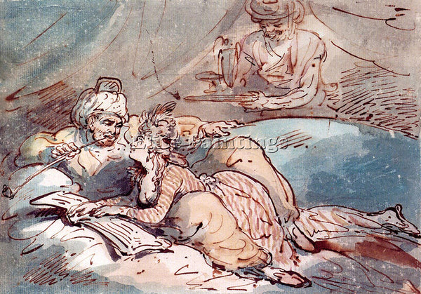 THOMAS ROWLANDSON ROWLANSON THOMAS LOVE IN THE EAST ARTIST PAINTING REPRODUCTION
