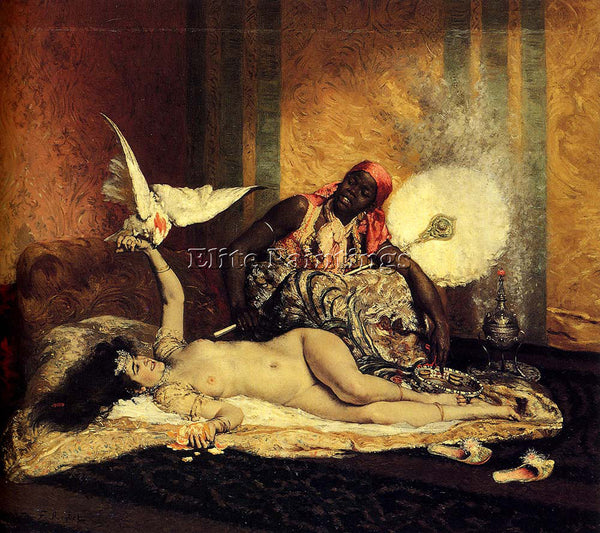 FERDINAND ROYBET ODALISQUE ARTIST PAINTING REPRODUCTION HANDMADE OIL CANVAS DECO