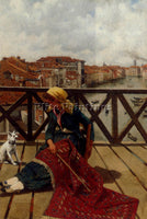 AUSTRALIAN RUBEN FRANZ LEO A DISTRACTION ON THE ACCADEMIA BRIDGE VENICE PAINTING