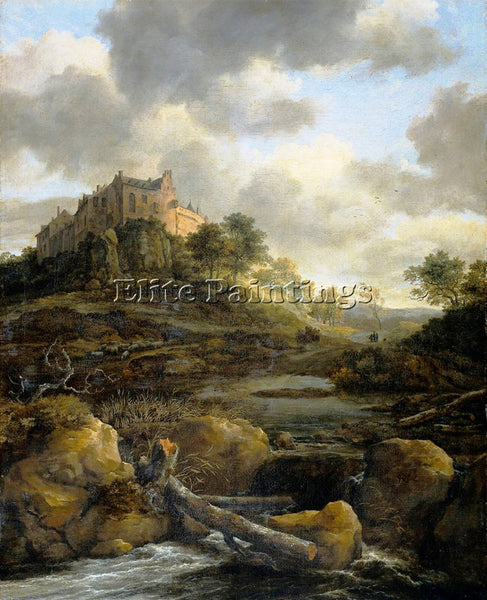 JACOB VAN RUISDAEL RUISDAEL 50SCASTLE ARTIST PAINTING REPRODUCTION HANDMADE OIL