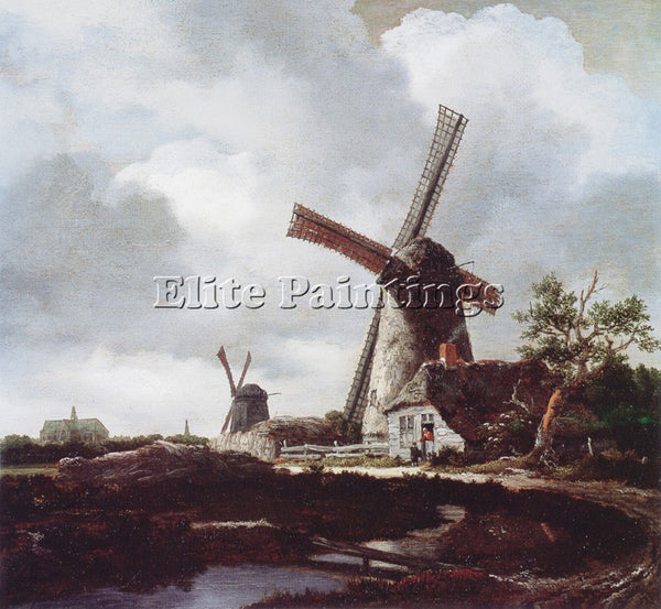 JACOB VAN RUISDAEL RUISDAEL 51MILLS ARTIST PAINTING REPRODUCTION HANDMADE OIL
