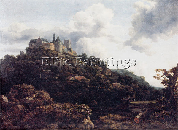 JACOB VAN RUISDAEL RUISDAEL 53CASTLE ARTIST PAINTING REPRODUCTION HANDMADE OIL