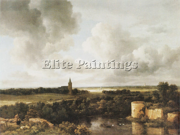JACOB VAN RUISDAEL RUISDAEL 67LANDSC ARTIST PAINTING REPRODUCTION HANDMADE OIL