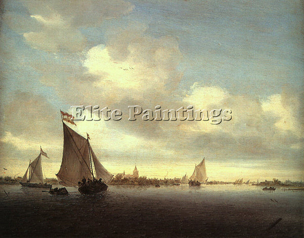 DUTCH RUYSDAEL SALOMON VAN DUTCH APPROX 1600 1670 ARTIST PAINTING REPRODUCTION