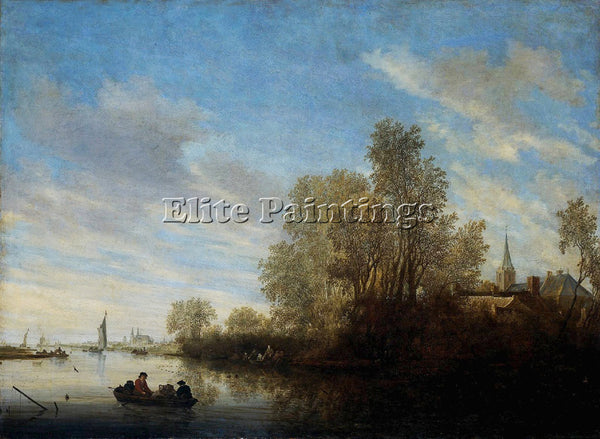 SALOMON VAN RUYSDAEL 45RIVER ARTIST PAINTING REPRODUCTION HANDMADE CANVAS REPRO