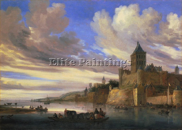 SALOMON VAN RUYSDAEL 48RIVER ARTIST PAINTING REPRODUCTION HANDMADE CANVAS REPRO
