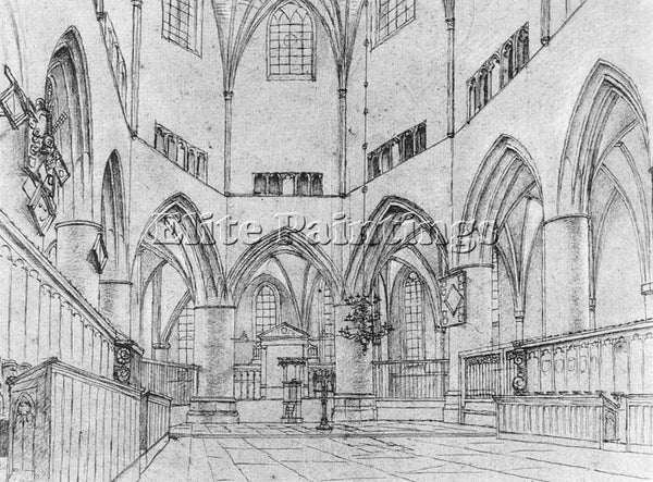 PIETER JANSZ SAENREDAM INTERIOR OF THE CHOIR OF ST BAVO AT HAARLEM REPRODUCTION