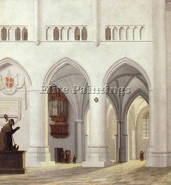 PIETER JANSZ SAENREDAM INTERIOR OF THE CHURCH OF ST BAVO AT HAARLEM PAINTING OIL
