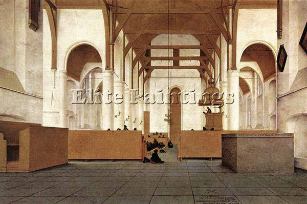 PIETER JANSZ SAENREDAM INTERIOR OF THE CHURCH OF ST ODULPHUS ASSENDELFT PAINTING
