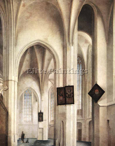 PIETER JANSZ SAENREDAM INTERIOR OF THE ST JACOB CHURCH IN UTRECHT 1642 PAINTING