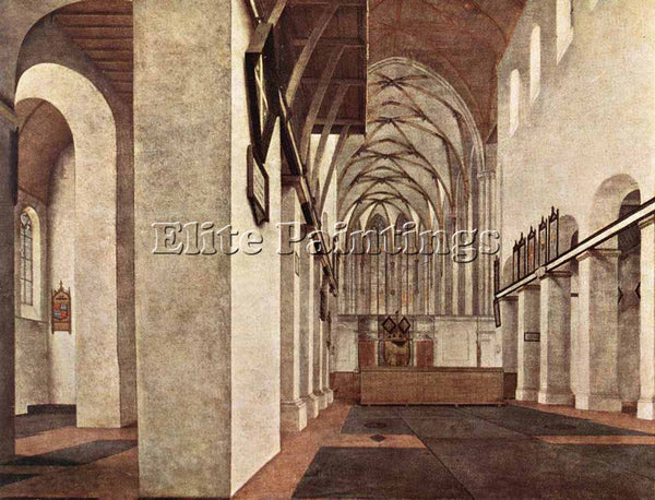 PIETER JANSZ SAENREDAM INTERIOR OF THE ST JANS KERK AT UTRECHT PAINTING HANDMADE