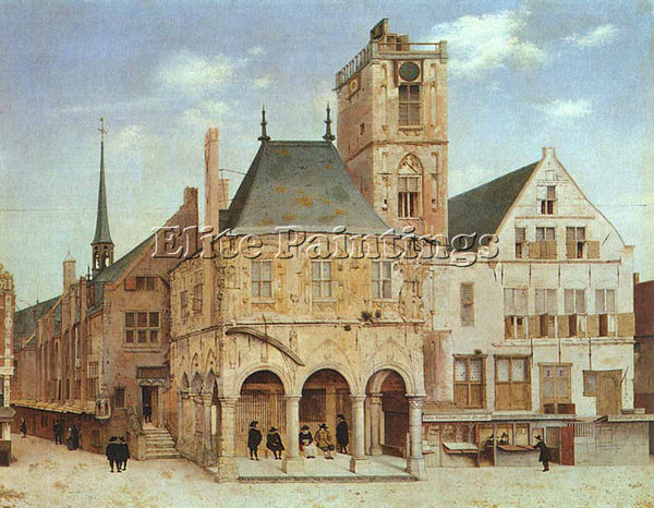 PIETER JANSZ SAENREDAM THE OLD TOWN HALL IN AMSTERDAM ARTIST PAINTING HANDMADE