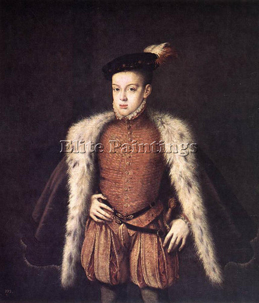 ALONSO SANCHEZ COELLO PRINCE DON CARLOS OF AUSTRIA ARTIST PAINTING REPRODUCTION