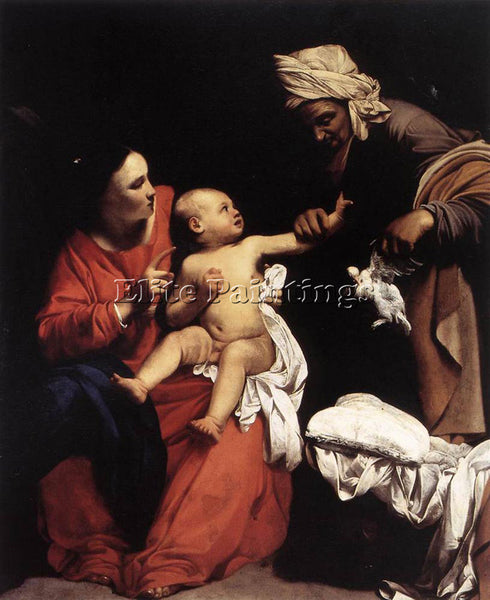 CARLO SARACENI MADONNA AND CHILD WITH ST ANNE ARTIST PAINTING REPRODUCTION OIL
