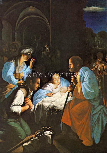 CARLO SARACENI THE BIRTH OF CHRIST ARTIST PAINTING REPRODUCTION HANDMADE OIL ART