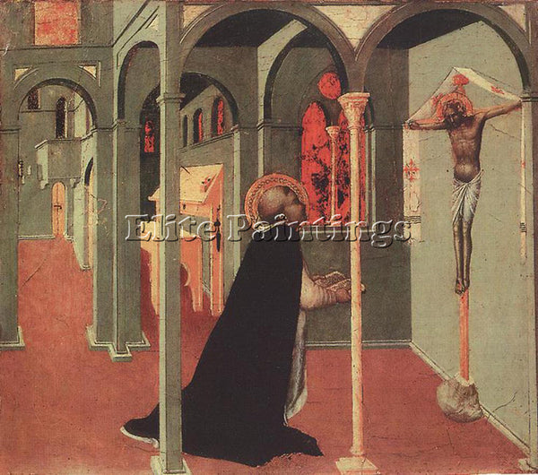 SASSETTA  ST THOMAS BEFORE THE CROSS ARTIST PAINTING REPRODUCTION HANDMADE OIL