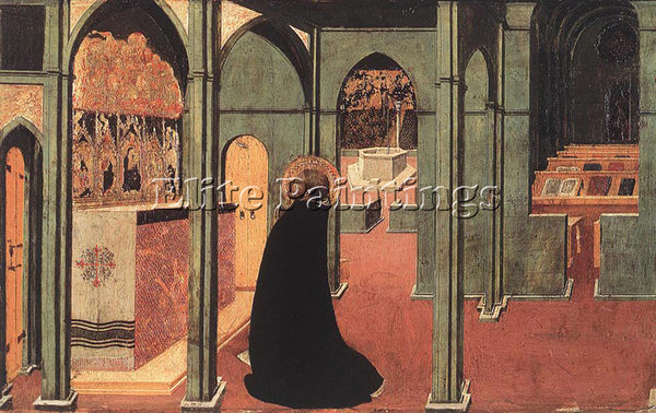 SASSETTA  ST THOMAS INSPIRED BY THE DOAVE OF THE HOLY GHOST ARTIST PAINTING OIL