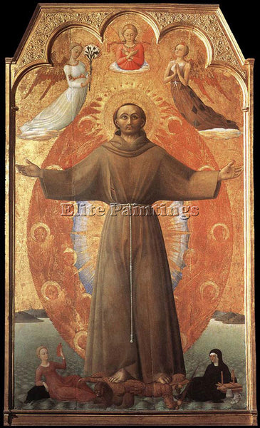 SASSETTA  THE ECSTASY OF ST FRANCIS ARTIST PAINTING REPRODUCTION HANDMADE OIL