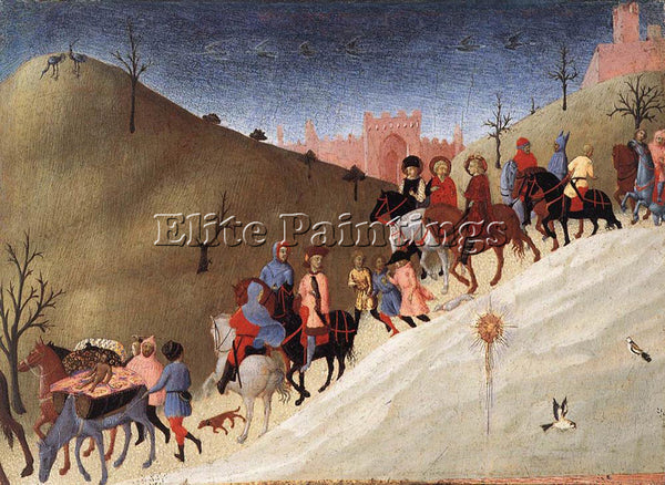 SASSETTA  THE JOURNEY OF THE MAGI ARTIST PAINTING REPRODUCTION HANDMADE OIL DECO