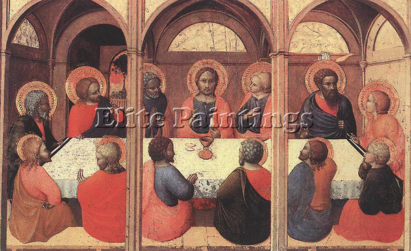 SASSETTA  THE LAST SUPPER ARTIST PAINTING REPRODUCTION HANDMADE OIL CANVAS REPRO
