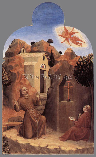 SASSETTA  THE STIGMATISATION OF ST FRANCIS ARTIST PAINTING REPRODUCTION HANDMADE