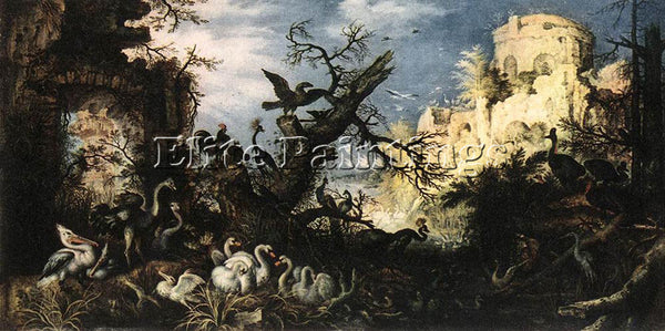 ROELANDT JACOBSZ SAVERY LANDSCAPE WITH BIRDS 1622 ARTIST PAINTING REPRODUCTION