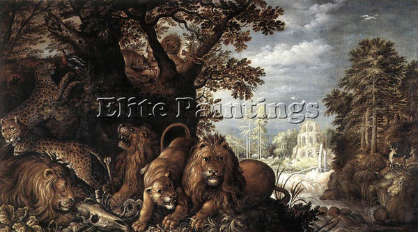 ROELANDT JACOBSZ SAVERY LANDSCAPE WITH WILD ANIMALS ARTIST PAINTING REPRODUCTION