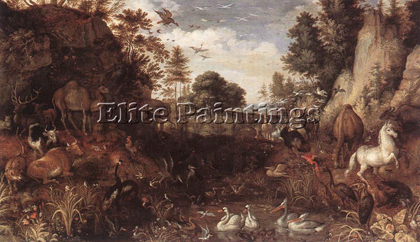 ROELANDT JACOBSZ SAVERY THE GARDEN OF EDEN ARTIST PAINTING REPRODUCTION HANDMADE