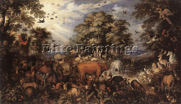 ROELANDT JACOBSZ SAVERY THE PARADISE 1626 ARTIST PAINTING REPRODUCTION HANDMADE