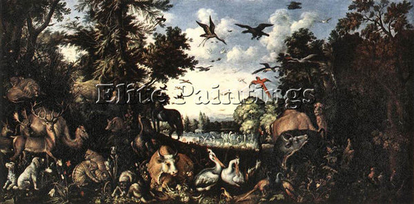 ROELANDT JACOBSZ SAVERY THE PARADISE ARTIST PAINTING REPRODUCTION HANDMADE OIL