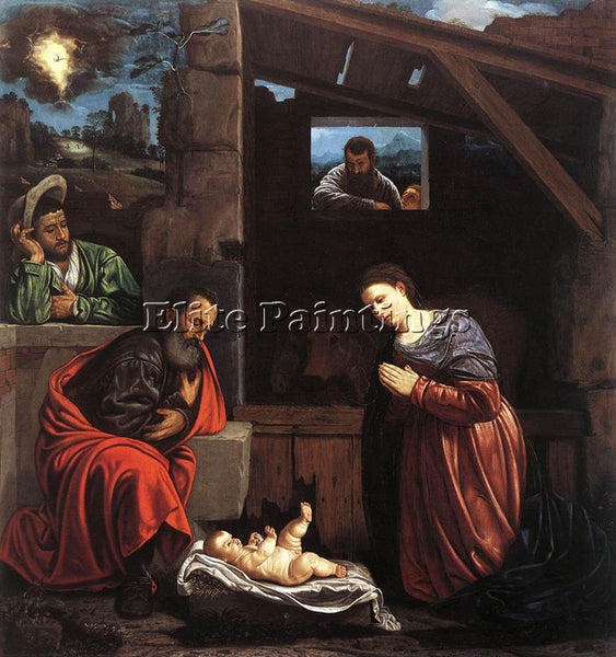 GIOVANNI GIROLAMO SAVOLDO ADORATION OF THE SHEPHERDS ARTIST PAINTING HANDMADE