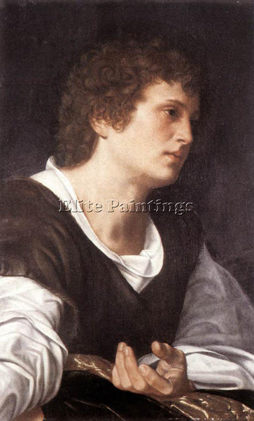 GIOVANNI GIROLAMO SAVOLDO BUTS OF A YOUTH ARTIST PAINTING REPRODUCTION HANDMADE