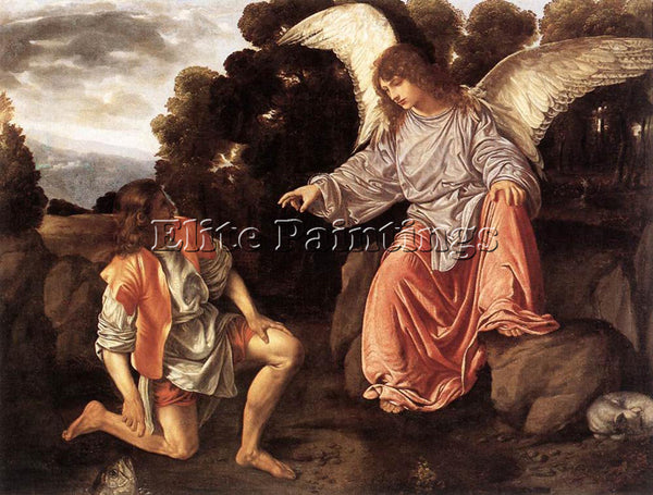 GIOVANNI GIROLAMO SAVOLDO TOBIAS AND THE ANGEL ARTIST PAINTING REPRODUCTION OIL