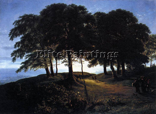 KARL FRIEDRICH SCHINKEL MORNING ARTIST PAINTING REPRODUCTION HANDMADE OIL CANVAS