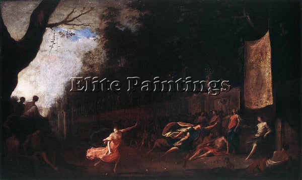 JOHANN HEINRICH SCHONFELD ATALANTA AND HIPPOMENES ARTIST PAINTING REPRODUCTION