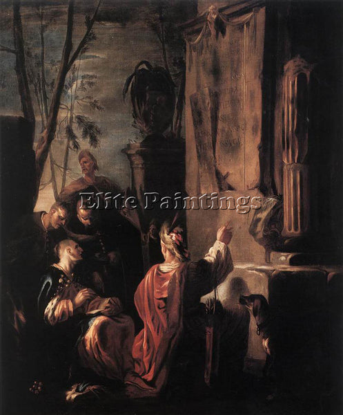 JOHANN HEINRICH SCHONFELD SCYTHIANS AT THE TOMB OF OVID ARTIST PAINTING HANDMADE