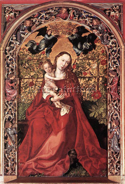 MARTIN SCHONGAUER MADONNA OF THE ROSE BUSH 1473 ARTIST PAINTING REPRODUCTION OIL