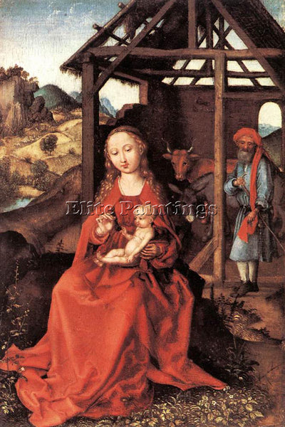 MARTIN SCHONGAUER THE HOLY FAMILY 1470 ARTIST PAINTING REPRODUCTION HANDMADE OIL