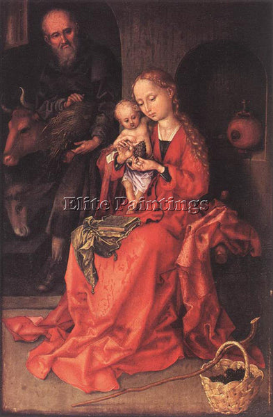 MARTIN SCHONGAUER THE HOLY FAMILY 1475 80 ARTIST PAINTING REPRODUCTION HANDMADE
