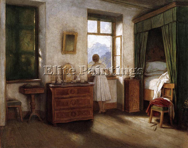 MORITZ VON SCHWIND EARLY MORNING ARTIST PAINTING REPRODUCTION HANDMADE OIL REPRO