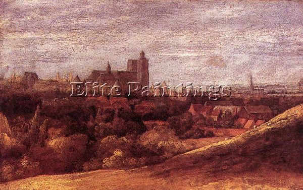 HERCULES SEGHERS VIEW OF BRUSSELS FROM THE NORTH EAST ARTIST PAINTING HANDMADE