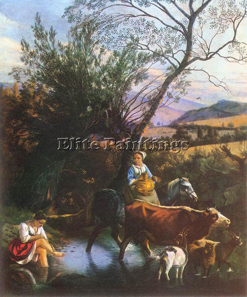 JAN SIBERECHTS THE FORD ARTIST PAINTING REPRODUCTION HANDMADE CANVAS REPRO WALL