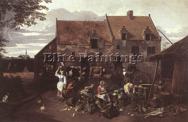 JAN SIBERECHTS THE MARKET GARDEN ARTIST PAINTING REPRODUCTION HANDMADE OIL REPRO