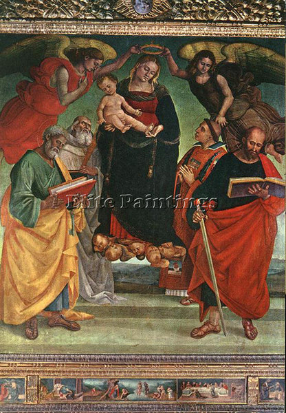 LUCA SIGNORELLI MADONNA AND CHILD WITH SAINTS ARTIST PAINTING REPRODUCTION OIL