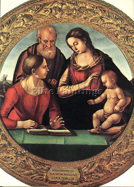 LUCA SIGNORELLI MADONNA AND CHILD WITH ST JOSEPH AND ANOTHER SAINT REPRODUCTION